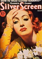 Joan Crawford - Silver Screen Fine Art Print