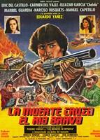 """La Muerte cruzo el rio Bravo - 11"""" x 17"""""""