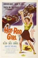 """Hot Rod Girl - 11"""" x 17"""""""