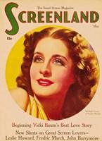 "Norma Shearer On Screenland - 11"" x 17"""