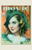 """Norma Shearer On Movie Mirror - 11"""" x 17"""""""
