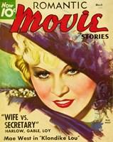 "Mae West - Romantic Movie Stories - 11"" x 17"""
