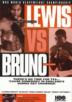 "Lennox Lewis vs Frank Bruno - 11"" x 17"""