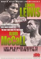"Lennox Lewis vs Oliver McCall - 11"" x 17"""