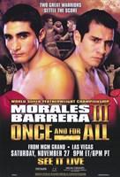"""Erik Morales vs Marco Antonio Barrera - 11"""" x 17"""""""
