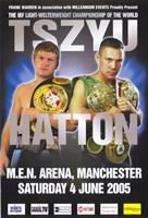 """Kostya Tszyu vs Ricky Hatton - 11"""" x 17"""""""