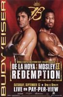 """Oscar De La Hoya vs Shane Mosley - 11"""" x 17"""""""