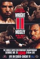 "Winky Wright vs Shane Mosley - red - 11"" x 17"""
