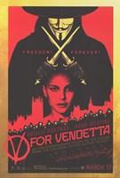 V for Vendetta Black and Red Framed Print
