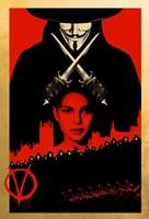 V for Vendetta Black and Red Fine Art Print