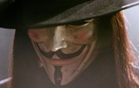 V for Vendetta Close Up Screen Shot Fine Art Print