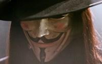 V for Vendetta Close Up Screen Shot Fine Art Print