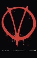 V for Vendetta Logo Fine Art Print