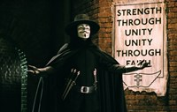 V for Vendetta Sign Horizontal Fine Art Print