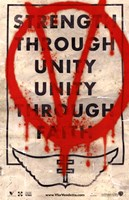 V for Vendetta Strength Through Unity Framed Print