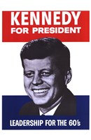 "Kennedy For President - 11"" x 17"""