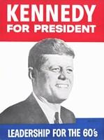 Kennedy For President Fine Art Print