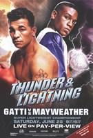 """Arturo Gatti vs. Floyd Mayweather - 11"""" x 17"""""""