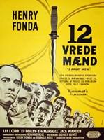 """12 Angry Men - Danish - 11"""" x 17"""", FulcrumGallery.com brand"""