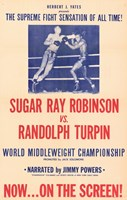 "Sugar Ray Robinson vs. Randolph Turpin - 11"" x 17"""