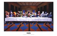 "Last Cartoon (last supper parody) by Ron English - 17"" x 11"""