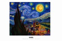Muslim Stary Night Fine Art Print