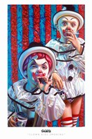 Clown Kids Smoking Fine Art Print