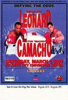 "Sugar Ray Leonard vs. Hector Camacho - 11"" x 17"""