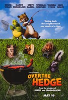 """Over the Hedge - Grill - 11"""" x 17"""", FulcrumGallery.com brand"""