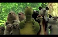 "Over the Hedge - animals - 17"" x 11"", FulcrumGallery.com brand"