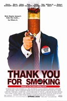 """Thank You for Smoking - 11"""" x 17"""" - $15.49"""