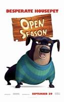 "Open Season - desperate housepet - 11"" x 17"""