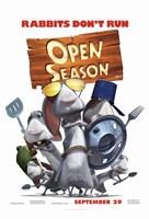 "Open Season - rabbits don't run - 11"" x 17"""