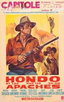 """Hondo and the Apaches - 11"""" x 17"""""""