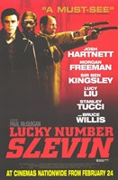 """Lucky Number Slevin - three men - 11"""" x 17"""""""