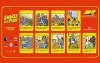 """Snakes on a Plane Safety Instructions Horizontal - 17"""" x 11"""", FulcrumGallery.com brand"""