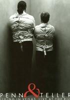 "Penn and Teller - straight jacket - 11"" x 17"""