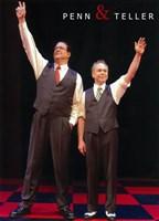 "Penn and Teller - raising hands - 11"" x 17"""