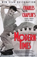 "Modern Times Chaplin Sitting on Gears - 11"" x 17"""