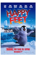"Happy Feet Movie Warning - 11"" x 17"""