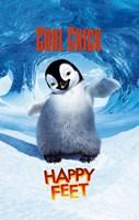 "Happy Feet Cool Chick - 11"" x 17"""