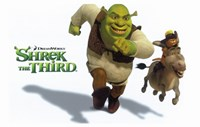 "Shrek the Third Racing Donkey - 17"" x 11"""
