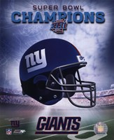New York Giants SuperBowl XLII Champions Helmet Photo Fine Art Print
