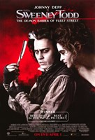 Sweeney Todd Johnny Depp and Helena Bonham Carter Fine Art Print