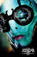 """Hellboy 2: The Golden Army - blue face - 11"""" x 17"""""""