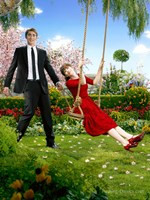 Pushing Daisies Ned Swinging Charolette Framed Print