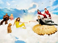 """Pushing Daisies Heaven with Pie - 17"""" x 11"""""""