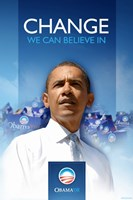"Barack Obama  - (First) Campaign Poster - 11"" x 17"""