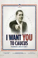 "Barack Obama -  (Iowa Caucus) Campaign Poster - 11"" x 17"""