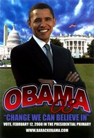 "Barack Obama - (Primary) Campaign Poster - 11"" x 17"""